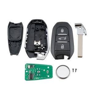 Image 2 - QWMEND 3 Tasten 4A Chip Smart Auto Schlüssel für Peugeot 208 301 308 508 3008 5008 433MHz Auto Fernbedienung keyless Go Reisenden Expert