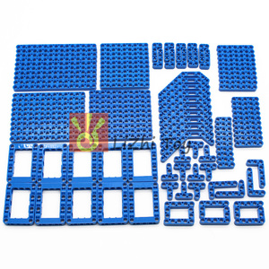 Image 1 - 120 шт., технические детали, 6 цветов, Liftarm, толстые строительные блоки, набор аксессуаров, механический луч, основная часть, DIY игрушки для детей