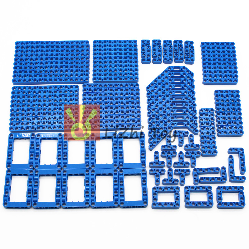 120PCS Technology Parts 6 Colors Liftarm Thick Building Bricks Blocks Accessory Set Arm Beam Mechanical Bulk Part DIY Toys