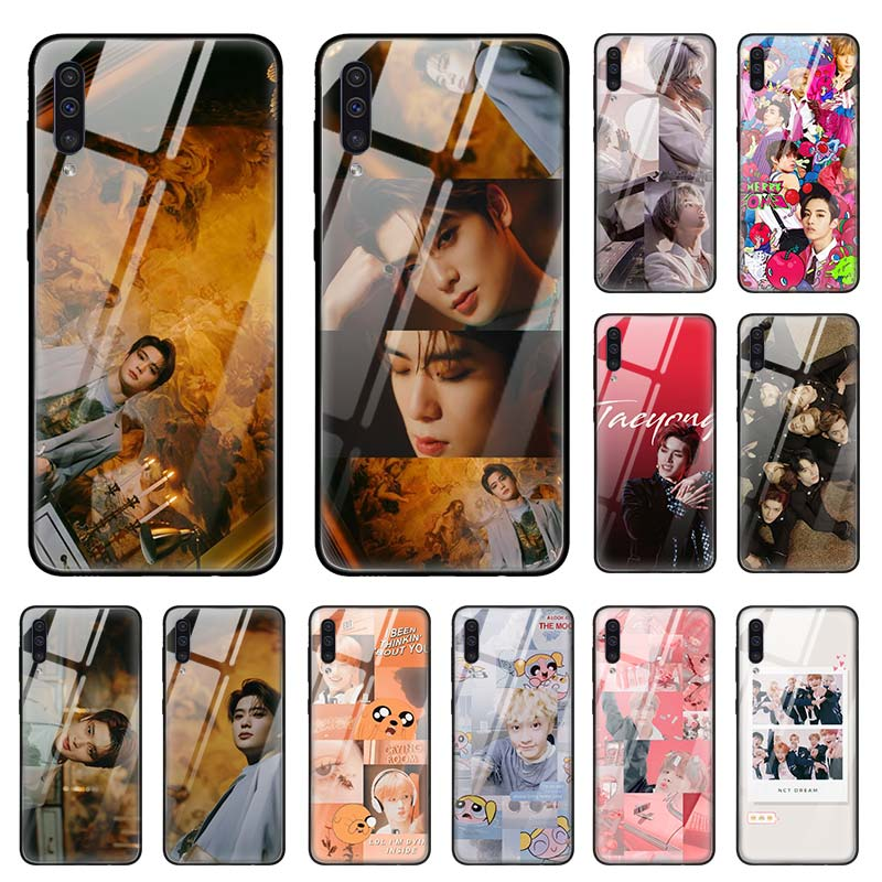 NCT 127 <font><b>Kpop</b></font> Grupo Case for <font><b>Samsung</b></font> Galaxy A50 A70 A40 A30 s A10 A20s A51 A71 J4 <font><b>J6</b></font> <font><b>Plus</b></font> M30s Tempered Glass Phone <font><b>Coque</b></font> Sac image