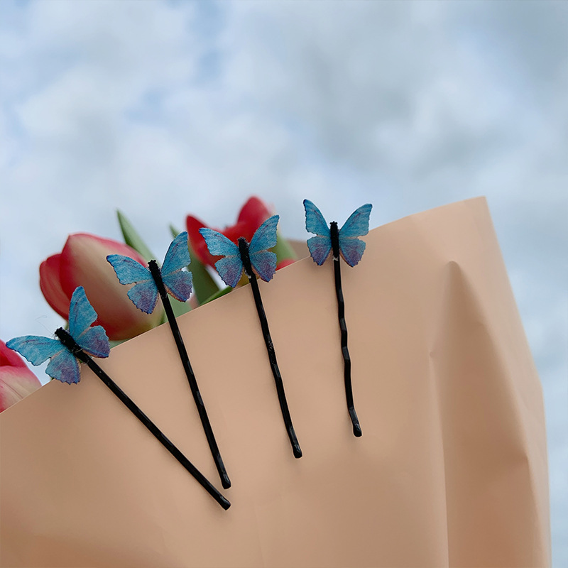 Купить горячие 4 шт/компл мечтательные бабочки зажимы для челки аксессуары
