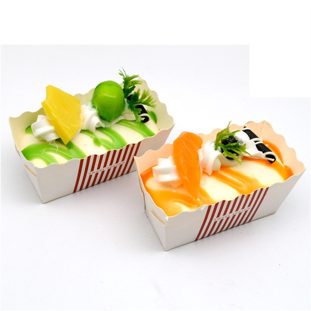 6PC Squeeze Stress Reliever Delicious Cake Cream Scented Slow Rising  Toys Cake Shop Model Display Toy Simulation Cake #C