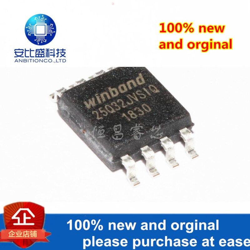 10pcs 100% New And Orginal W25Q32JVSSIQ Silk-screen 25Q32JVSIQ 32Mbits SOP8 In Stock