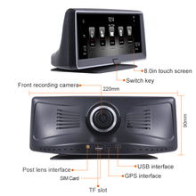 Best 8 inch Car GPS Navigator 4G DVR Camera Android 5 1 DVR video Recorder 1080P HD Dash Cam Night Vision With Rear view Camera cheap winkcron 800x480 MP3 MP4 Players Mobile Phone Touch Screen Bluetooth Vehicle GPS Units Equipment gps navigation dual lens dvr camera