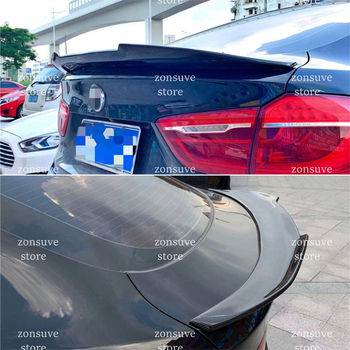 Use For BMW X6 F16 Spoiler 2015--2019 Year Psm Style Real Glossy Carbon Fiber Rear Wing Sport Body Kit Accessories image