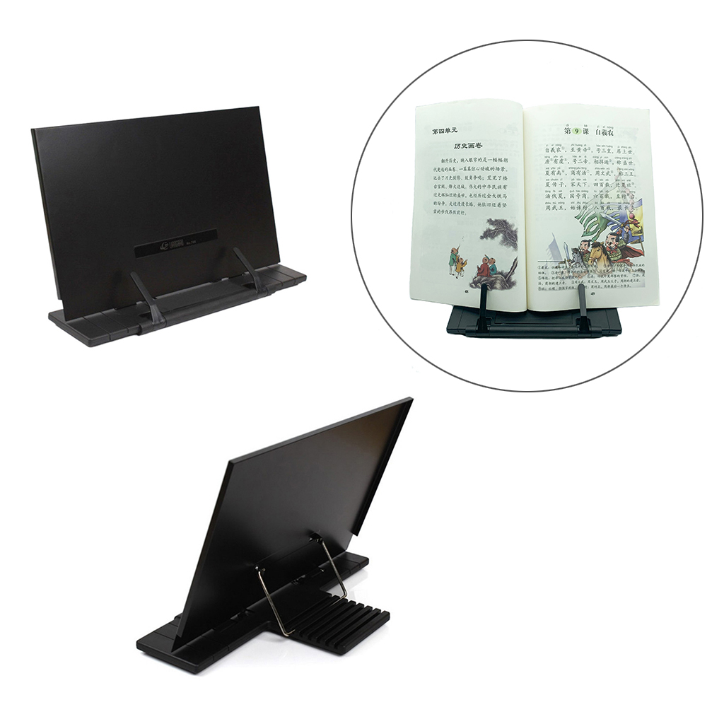 Portable Adjustable Book Reading Stand Holder Tray with Paper Clip for Kids Reading Cookbook Magazine Document Bookstand