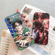 Japan Anime Hot Attack on Titan Levi·Ackerman Phone Case for iphone 12 11 Pro X Xs Max XR 7 8 Plus SE 2020 Soft silicone Cover
