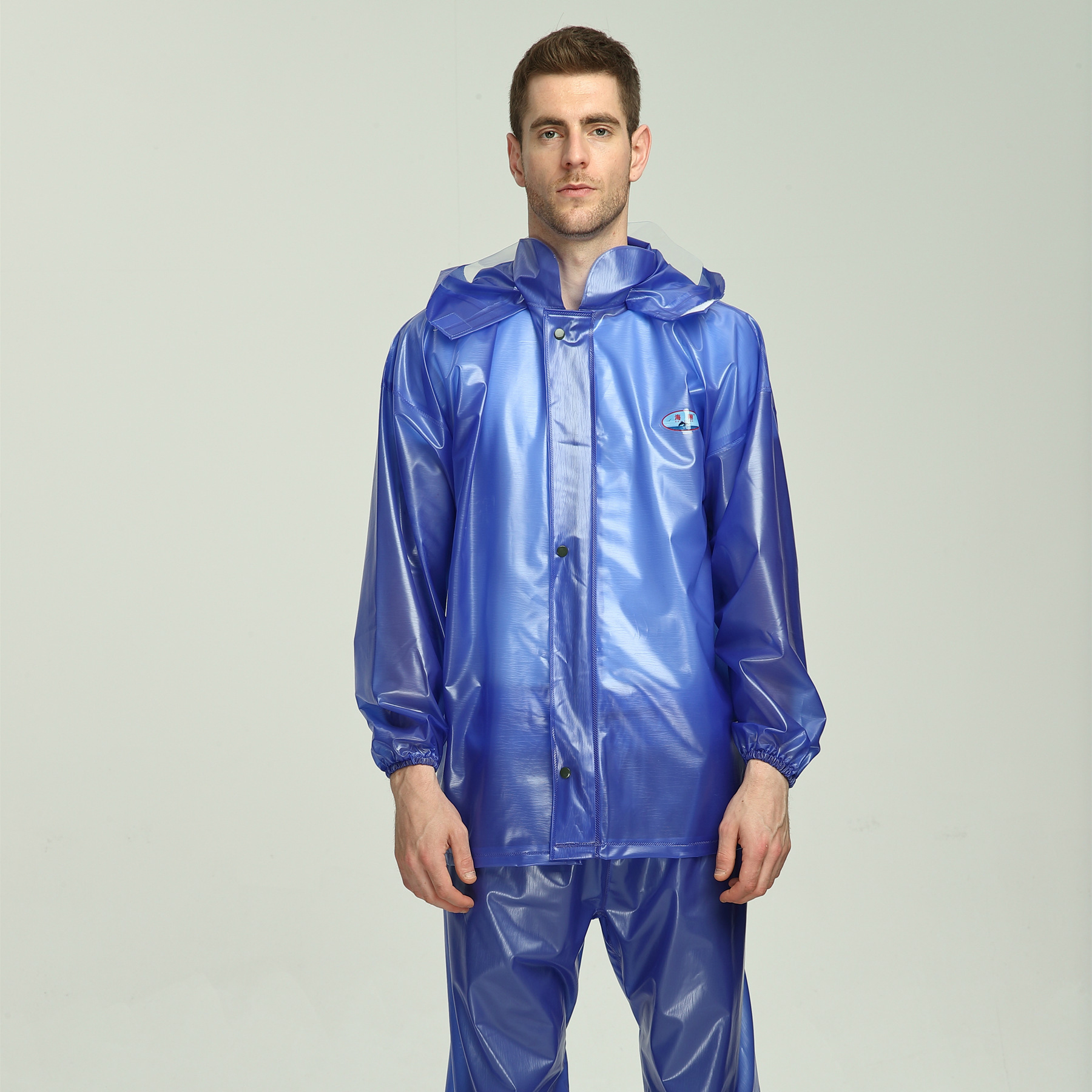 Adult Split raincoat rain pants men thin rainwear at outdoor waterproof PVC rain coat for women YY071 image