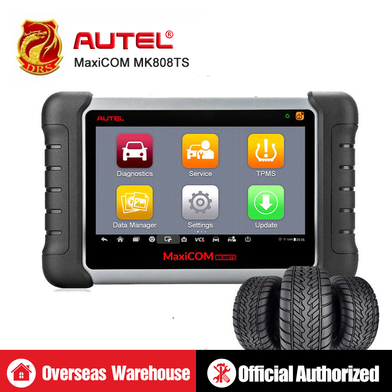 AUTEL MaxiCOM MK808TS MX808TS коннектор для прибора диагностики считыватель кодов TPMS программист OBD2 сканер MaxiCOM MK808 MX808 + MaxiTPMS TS601