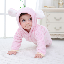 3 Colors Newborn Baby Girls Clothes New Winter Overalls Hooded Romper Infant Warm Animal Costume Cotton Jumpsuit For Boys