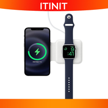 C2 For iPhone 12 Pro Wireless Cherger 2 in 1 Folding  Dual Charge Wireless Charger For Apple Iwatch 6 or Airpods