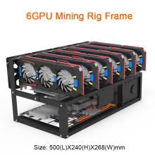 Steel Open Air Miner Case Mining Rig Frame 6gpu For TH/ETC/ZCash Rack Only