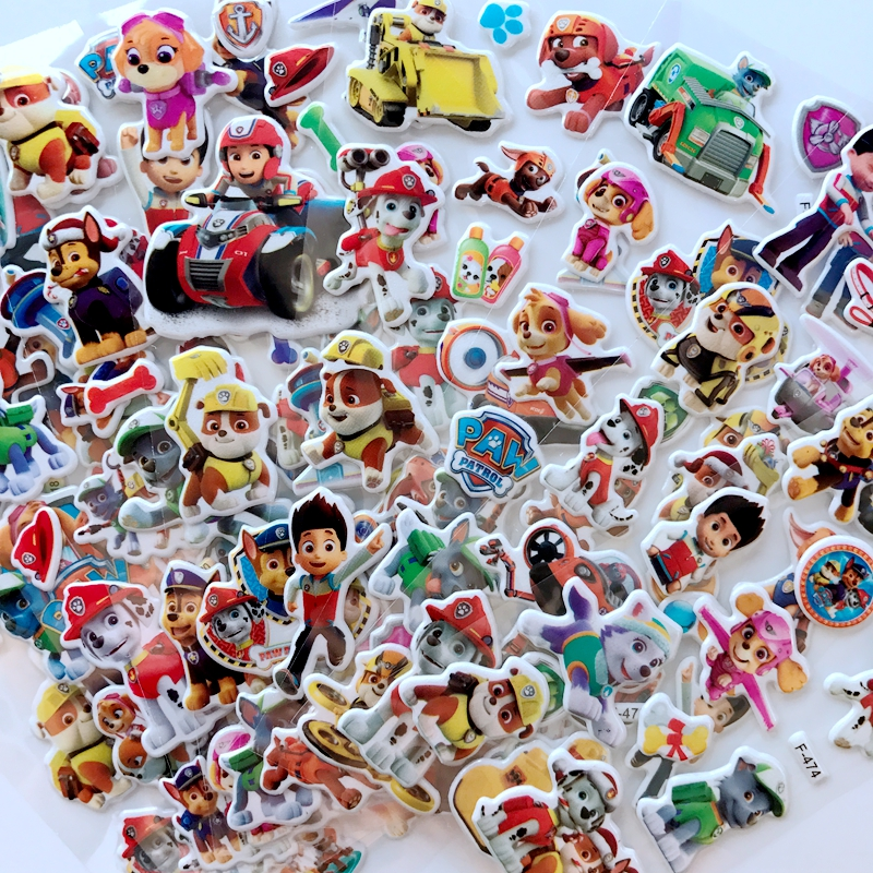 10 Pcs / Set Of Paw Patrol Dog Sticker Toy Patrulla Canina Movable Doll Toy Children Children Toy Birthday Gift
