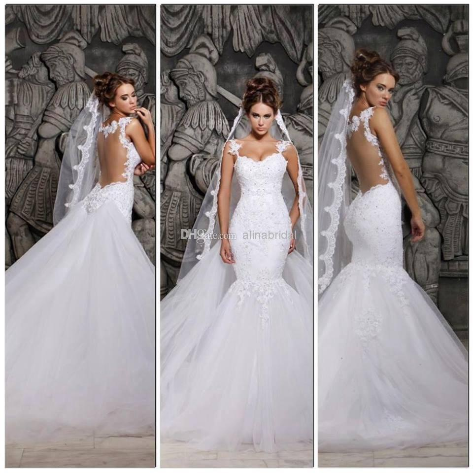 Mermaid Bridal Gown Romantic 2018 New Hot Sexy Fashion Tulle Lace Appliques Vestido De Noiva Long Mother Of The Bride Dresses