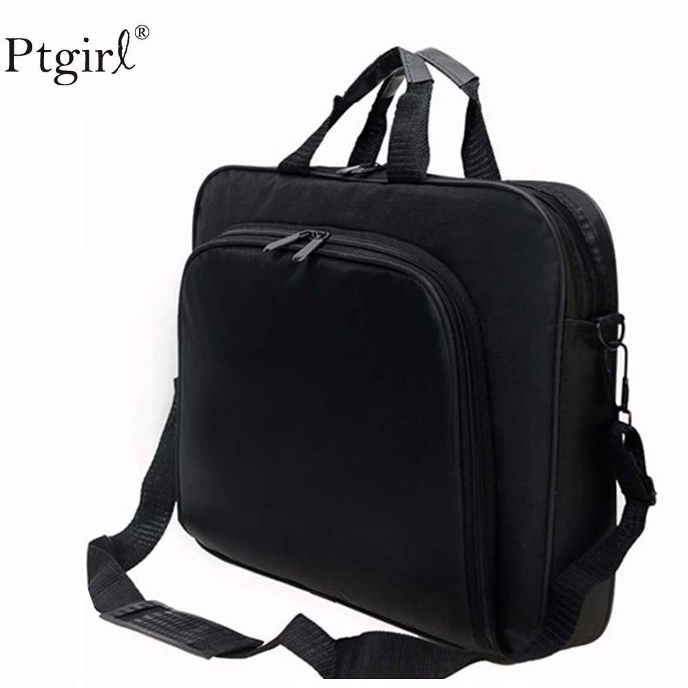 2019 Fashion Business Portable Unisex Nylon Computer Handbags Zipper Shoulder Laptop Simple Bags Briefcase Black Bolso Hombre