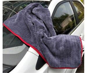 Image 3 - Mikrofaser Handtuch Auto Waschen Zubehör 60*90cm Super Saugfähigkeit Auto Reinigung Tuch Premium Mikrofaser Auto Handtuch 900GSM