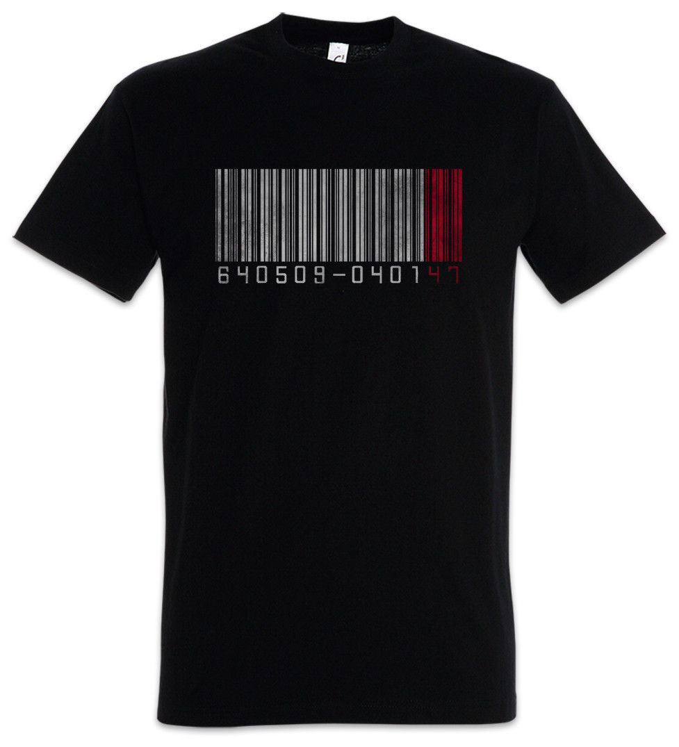 HITMAN NO 47 T-SHIRT - Strichcode Barcode Nr. Nummer Number 47 Game Movie Shirt Fashion Men And Woman T Shirt Free Shipping image