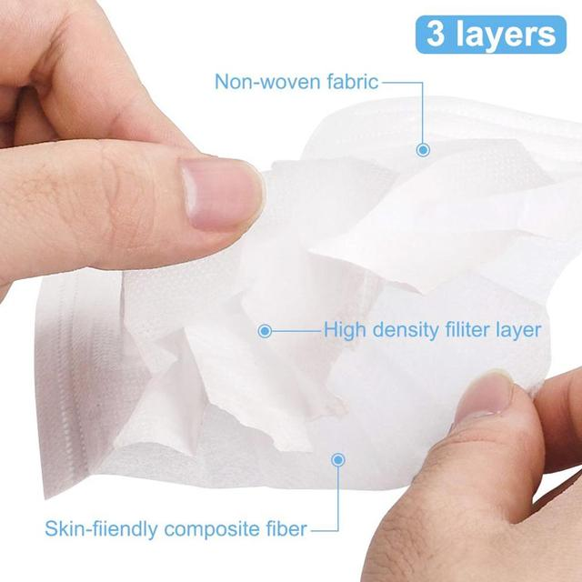 3 layers 10/20/50pcs/Set Black Mouth Mask Disposable Cotton Mouth Face Masks Non-Woven Mask 5
