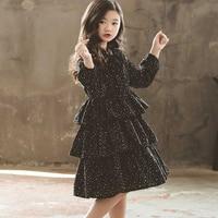 New 2019 Teen Kids Autumn Dress Black Winter Girls Dresses Fashion Children Baby Princess Dress Mother And Daughter Clothing