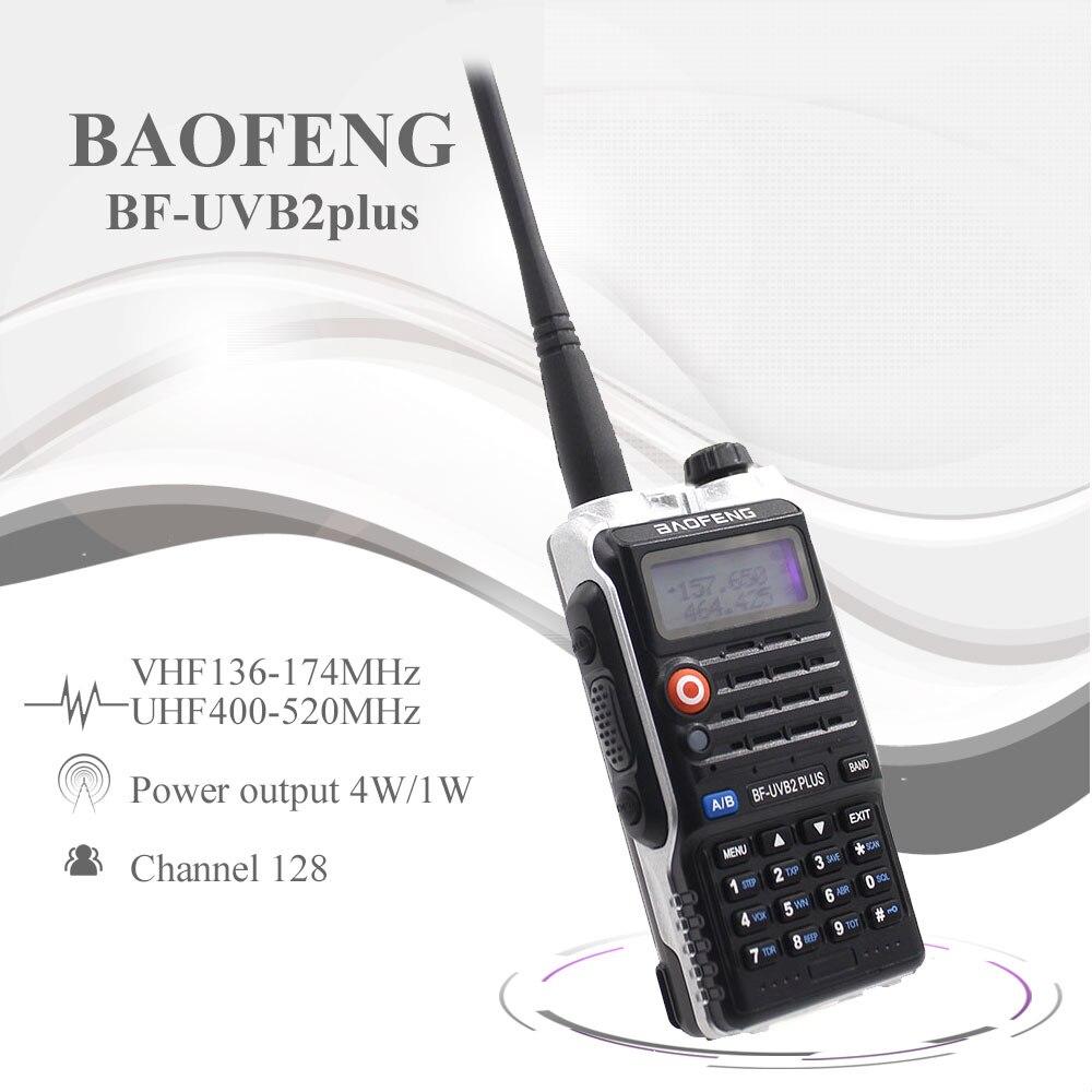 Baofeng CB Radio Transceiver Walkie-Talkie Dual-Band Interphone Ham UV-B2 Handheld Uvb2-Plus