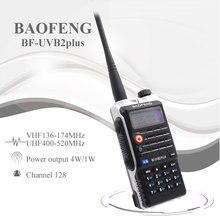 Baofeng uvb2 plus UV B2 rádio em dois sentidos banda dupla vhf/uhf walkie talkie 128ch interfone BF UVB2 ham cb rádio handheld transceptor