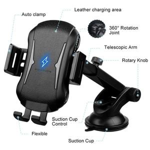 Image 4 - 10 Вт Быстрая зарядка беспроводной телефон зарядное устройство автомобиль держатель автоматическое автомобильное зарядное устройство
