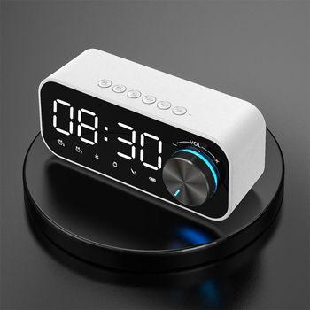 Lustro budzik głośnik kompatybilny z Bluetooth cyfrowy wyświetlacz Radio z alarmem Radio z budzikiem bezprzewodowy Subwoofer odtwarzacz muzyczny zegar tanie i dobre opinie HAIMAITONG Połączenie Baterii Z tworzywa sztucznego Pełny zakres CN (pochodzenie) 25 W NONE Inne 2-10