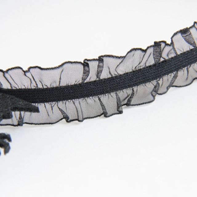 Women Ghost Hand Headband Black Lace Border Hair Hoop Halloween Decor Headpiece