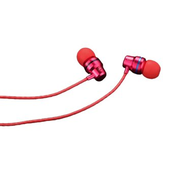 Metal Subwoofer Earphone Mobile Phone In-Ear Headset Line Control With Microphone Gaming Audio Video