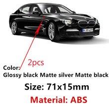 Linha sline s linha sline para audi a4 s4 rs4 a6 tt a3 emblema adesivo 2pc novo carro de prata fosco brilhante cromo preto abs s