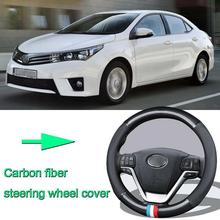 High Quality Car Non-slip carbon fiber leather car steering wheel cover for Toyota Corolla high quality brand new power steering rack assy for toyota corolla car steering rack