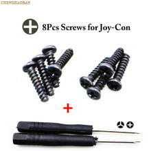 ChengHaoRan 8PCS/set Screws +Cross Triangle Screwdrivers For Nintendo NS NX Joy Con Replacement Screws For Switch Joy con screws