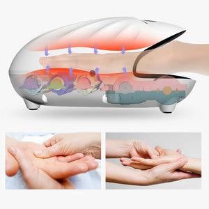 Image 3 - Masajeador de manos eléctrico herramientas de cuidado de manos acupresión adormecimiento dedo Spa Oficina hogar alivio del dolor envío gratis ROCROC blanca