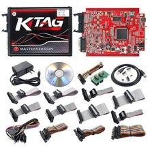 KTAG V7.020 czerwony PCB programowanie ECU V7.020 KTM100 KTAG programowanie ECU narzędzie Master oprogramowanie V2.23 z nieograniczonym tokenem