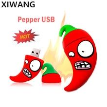 Vegetable Red Pepper USB Flash Drive 128gb Cartoon cle usb 2.0 8GB Pendrive 32GB Memory Stick 64GB Creative Pen 16GB