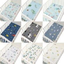 Хлопок, перкаль, портативный/мини-простыня для кроватки, мягкий матрас для детской кровати, 130*70 см