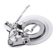 Prensatelas circulares de puntada de flores para accesorios para máquinas de coser de caña baja, herramienta para coser y reparar telas para el hogar