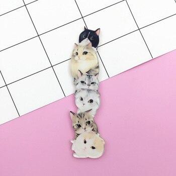 Broche con diseño de perro y conejo de jirafa de dibujos animados, insignias de animales acrílicos, broches de Harajuku de Japón para hombres y mujeres, accesorios de mochila de joyería