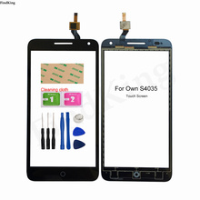 Mobile Touch Screen For OWN S4035 Touch Screen TouchScreen Digitizer Front Glass Panel Lens Sensor Tools 3M Sticker