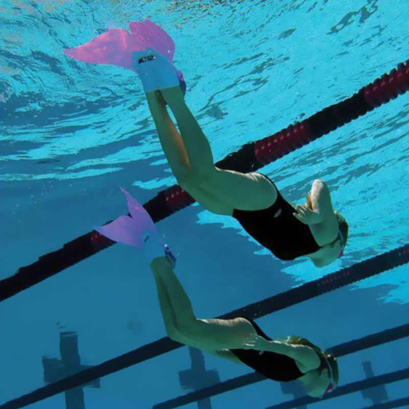 Hot Koop Leuke Mermaid Zwemmen Fin Duiken Scuba Voet Flippers Monofin Water Sport Training Leren Apparatuur voor Kinderen