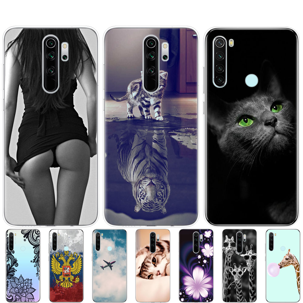 Case For Xiaomi Redmi Note 8T 8 Case Cover Silicon Soft TPU Phone Coque For Redmi Note 8 Redmi Note 8 Pro Bumper Shockproof