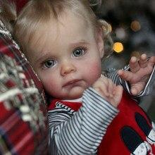 Rsg renascer bebê boneca 22 polegadas realista recém nascido maggi vinil unpainted inacabado boneca peças diy kit de boneca em branco