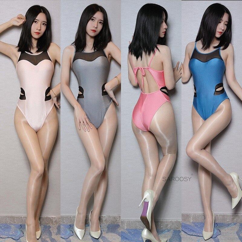 SAROOSY Sexy Hollow Mesh Patchwork Bodysuit Backless Adjustable Shoulder Strap Erotic Lingerie Plus Size 2019 New Arrival