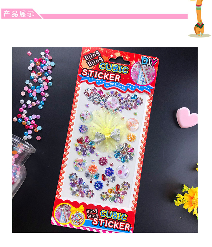 4   Lace Bow Diamond Stickers For Handmade Diy Mobile Phone Car Bag Gift Box Decoration Women Colorful Rhinestones Butterfly Stickers