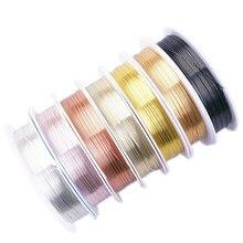 0.2 0.25 0.3 0.5 0.6 0.7 0.8 1.0mm nenhum desvanece-se oxidize fio de cobre rosa ouro prata resistente cordão beading string diy jóias fazendo