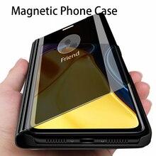 Smart Spiegel Case Voor Poco M3 Pro 5G Flip Stand Boek Cover Voor Pocom3 Propoco M 3 Pro 5G Global Versie Nfc Lederen Coque Gevallen
