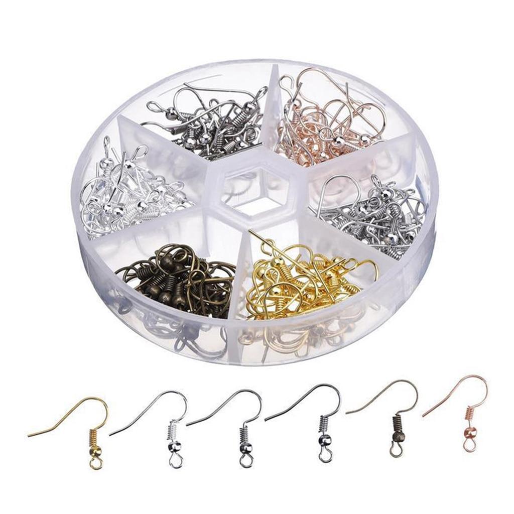 120pcs Earring Hooks Yourself Make Earhook Blanks Earring Hooks For Jewelry Making