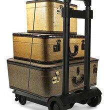 ALWAYSME Складная портативная тележка для путешествий Регулируемая тележка для дома для багажа
