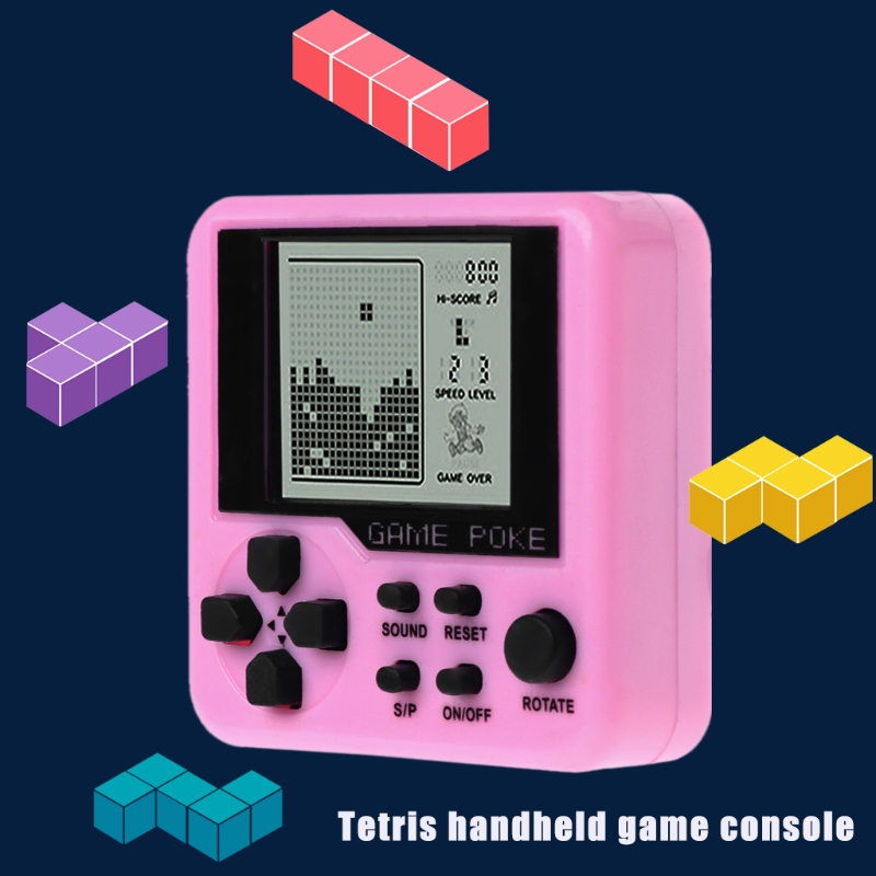 Hand Held Mini Tetris Game Machine Electronic Toys Brick Toys Educational Game Y4UD