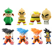 цена на USB Flash Drive U Disk Dragon Ball PenDrive 4G Colin 8G 16G 32G Kungfu Wukong USB Flash Drive Gift Pen Drive Memory Stick Pig